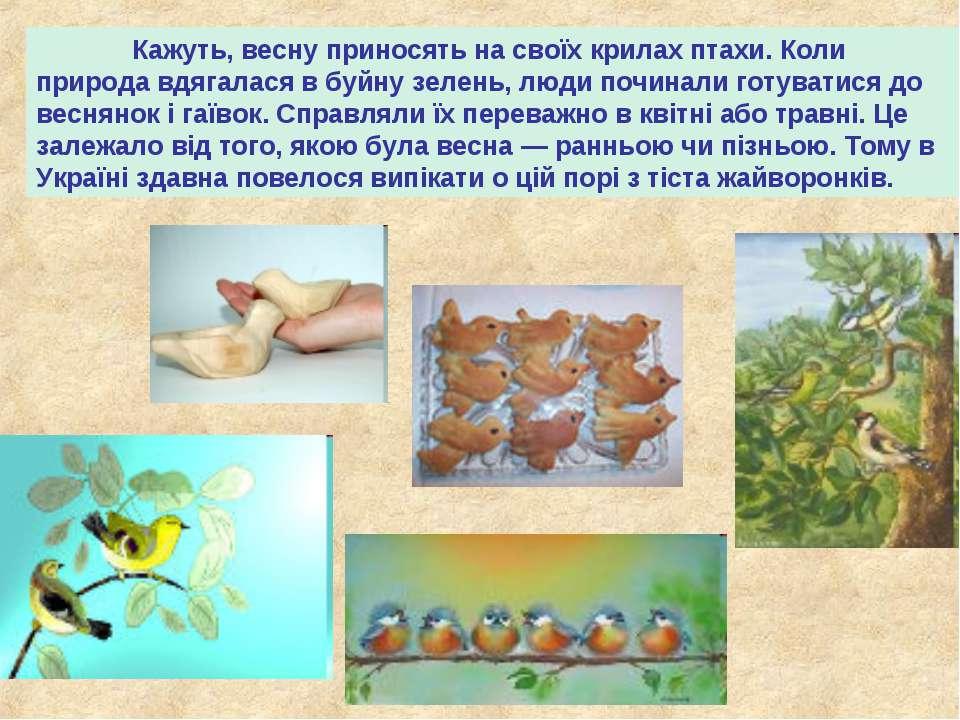 Кажуть, весну приносять на своїх крилах птахи. Коли природа вдягалася в буйну...