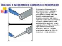Вказівки з використання картриджа з герметиком За допомогою будівельного ножа...