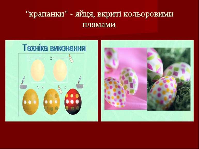 """""""крапанки"""" - яйця, вкриті кольоровими плямами;"""