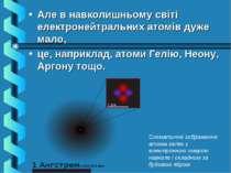 Але в навколишньому світі електронейтральних атомів дуже мало, це, наприклад,...
