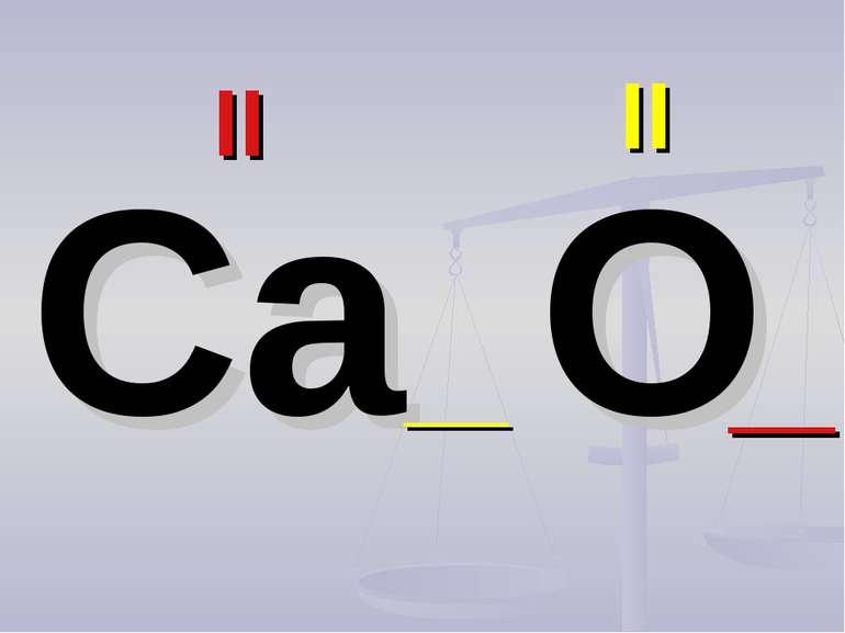 Ca O II II __ __