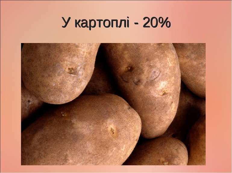 У картоплі - 20%