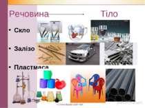 Речовина Тіло Скло Залізо Пластмаса КЗ Верхівцевський НВК