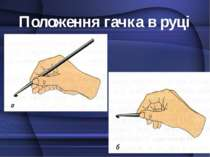 Положення гачка в руці