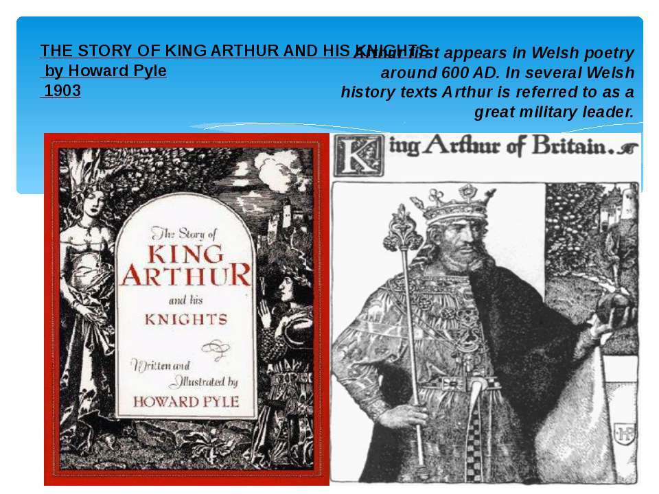 THE STORY OF KING ARTHUR AND HIS KNIGHTS by Howard Pyle 1903 Arthur first app...