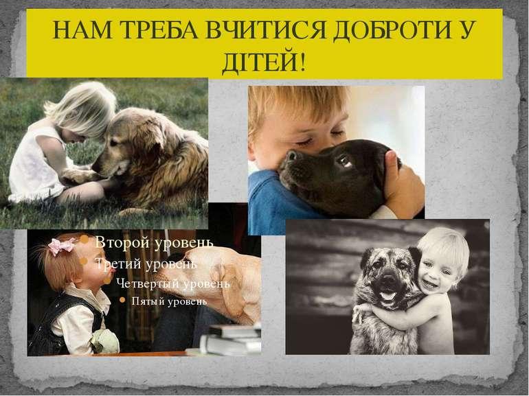 НАМ ТРЕБА ВЧИТИСЯ ДОБРОТИ У ДІТЕЙ!