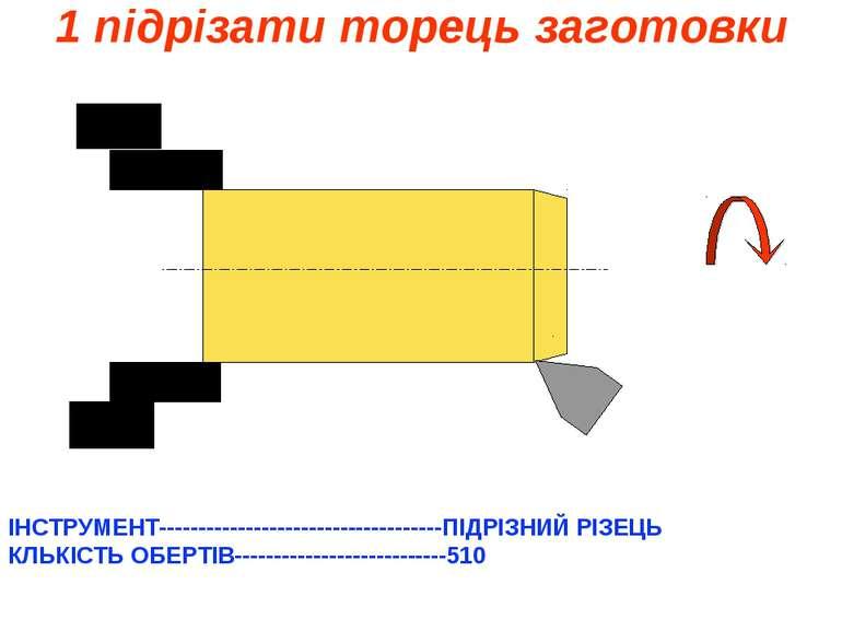1 підрізати торець заготовки ІНСТРУМЕНТ------------------------------------ПІ...