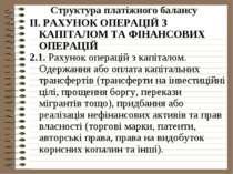 Структура платіжного балансу ІІ. РАХУНОК ОПЕРАЦІЙ З КАПІТАЛОМ ТА ФІНАНСОВИХ О...