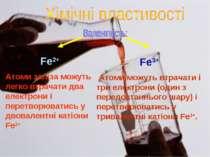 Fe2+ Атоми заліза можуть легко втрачати два електрони і перетворюватись у дво...