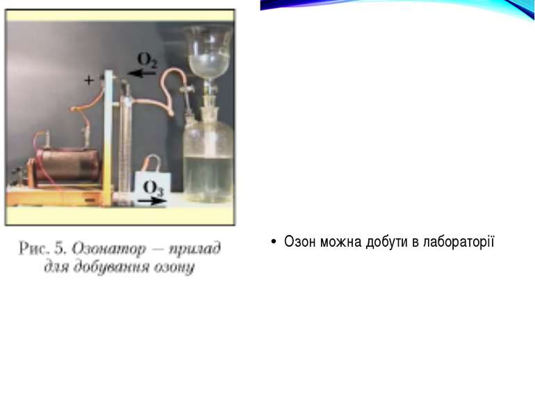 Озон можна добути в лабораторії