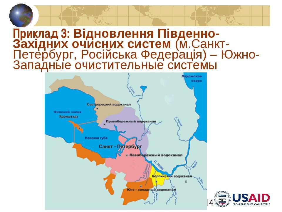 Приклад 3: Відновлення Південно-Західних очисних систем (м.Санкт-Петербург, Р...
