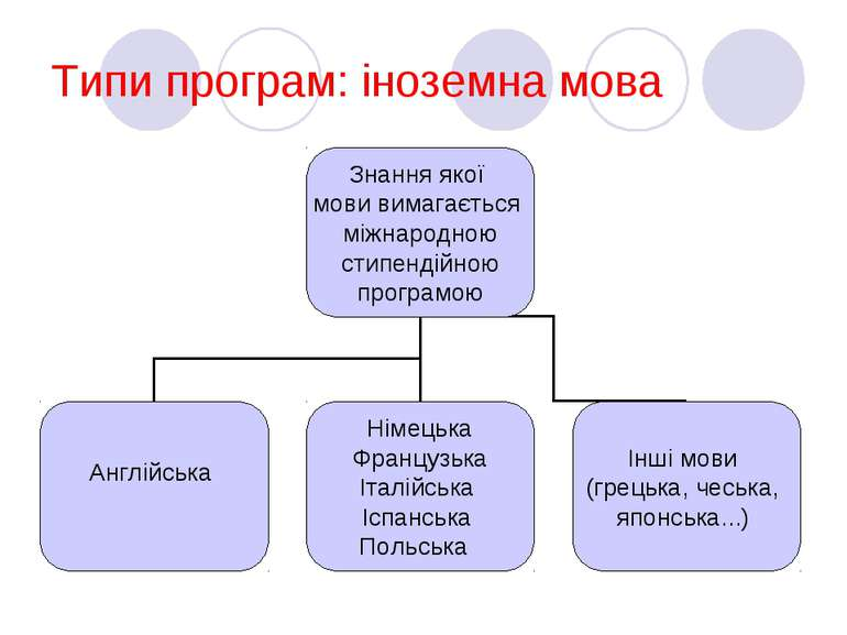 Типи програм: іноземна мова