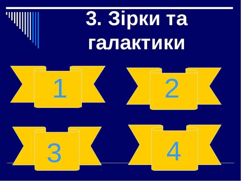 3. Зірки та галактики 2 4 1 3
