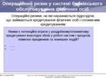Операційний ризик у системі банківського обслуговування фізичних осіб Операці...