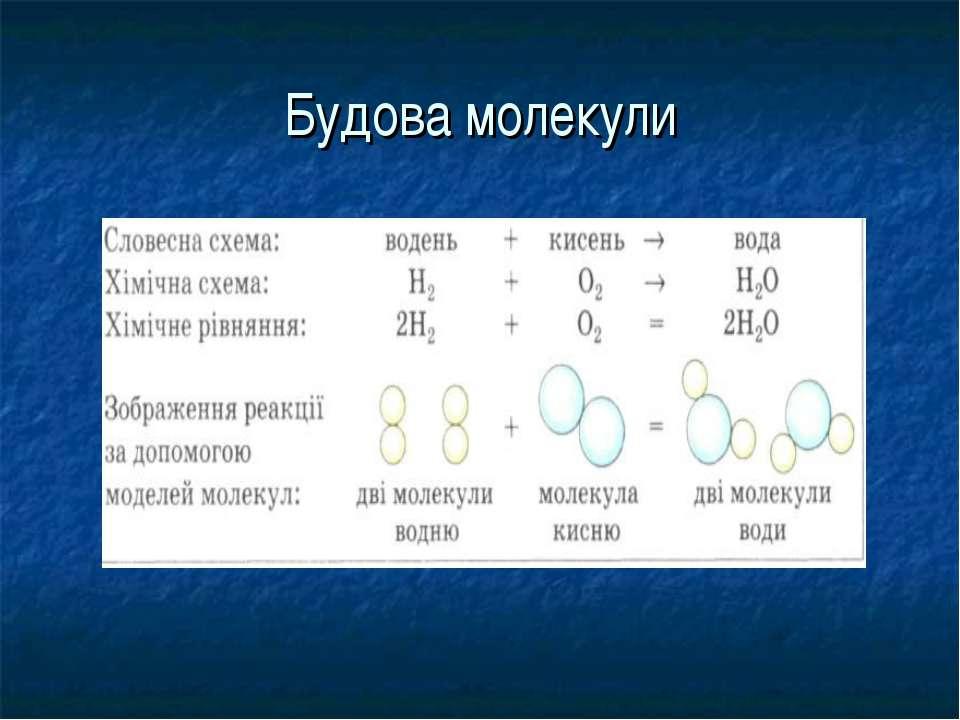 Будова молекули