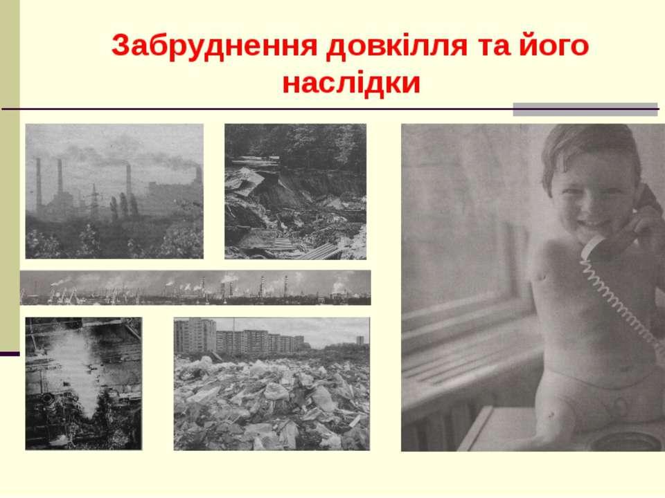 Забруднення довкілля та його наслідки