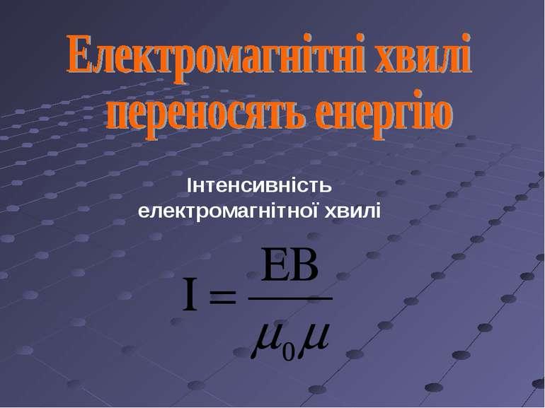 Інтенсивність електромагнітної хвилі