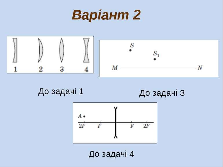 До задачі 1 Варіант 2 До задачі 3 До задачі 4