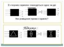 В «чорних скринях» знаходяться одна чи дві призми. Яке роміщення призм в скри...