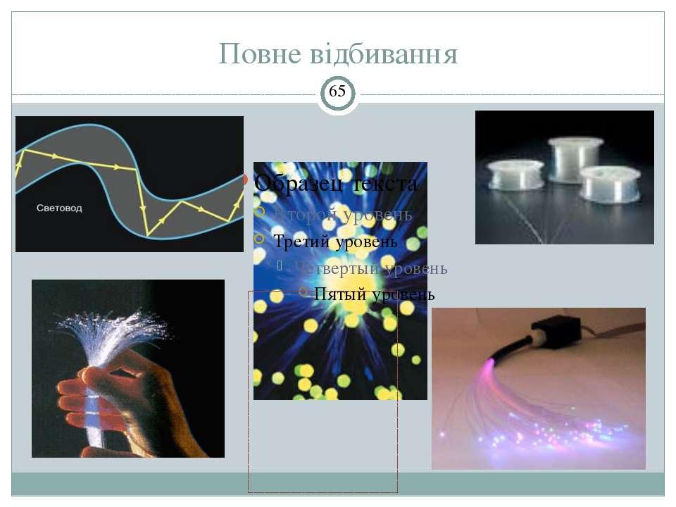 Повне відбивання Световоды используются для передачи радиосигнала, изображени...