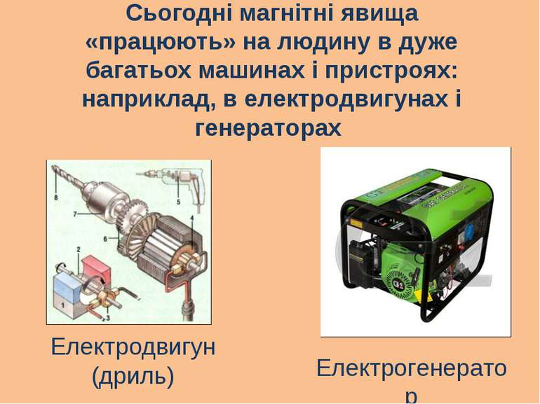 Сьогодні магнітні явища «працюють» на людину в дуже багатьох машинах і пристр...