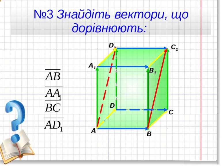 №3 Знайдіть вектори, що дорівнюють:
