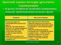 Фонд суспільної безпеки * Критерії оцінки методів цільового спрямування В цьо...