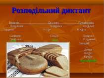 Розподільний диктант Іменник Дієслово Прикметник Натхнення Клонився Осінньої ...
