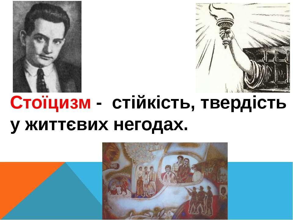 Стоїцизм - стійкість, твердість у життєвих негодах.