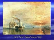 """J.M.W. Turner """" Fighting Temeraire"""" 1839"""