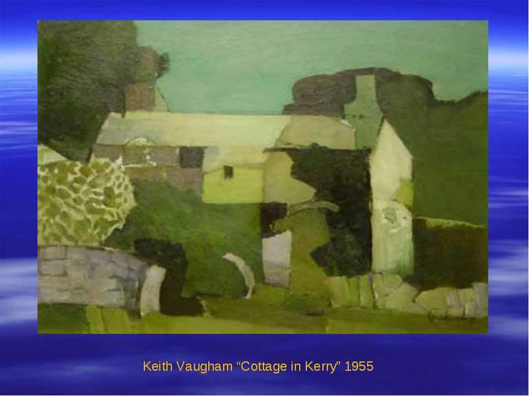 "Keith Vaugham ""Cottage in Kerry"" 1955"