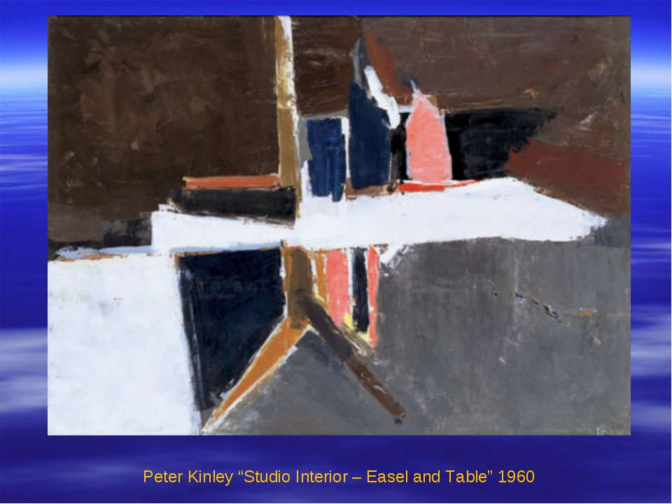 "Peter Kinley ""Studio Interior – Easel and Table"" 1960"