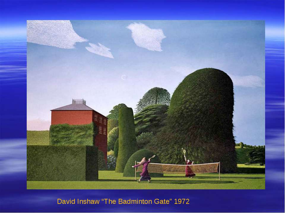 "David Inshaw ""The Badminton Gate"" 1972"