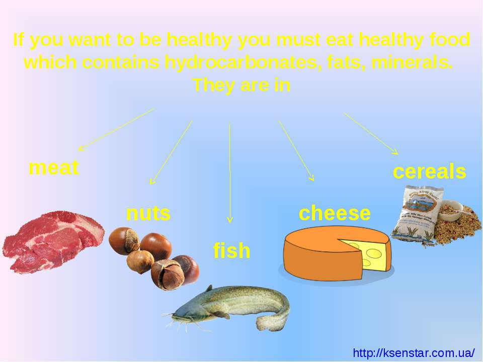 If you want to be healthy you must eat healthy food which contains hydrocarbo...