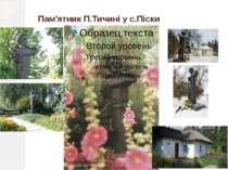 Пам'ятник П.Тичині у с.Піски