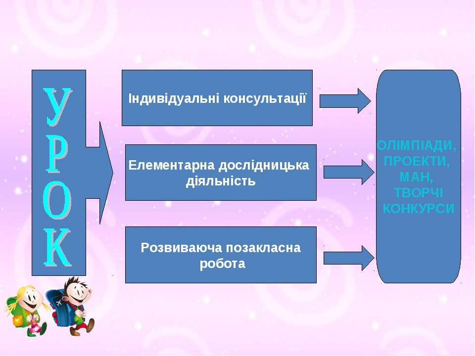 Індивідуальні консультації Елементарна дослідницька діяльність Розвиваюча поз...