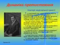 Динаміка протистояння Коаліція національної єдності у початковий етап кризи з...