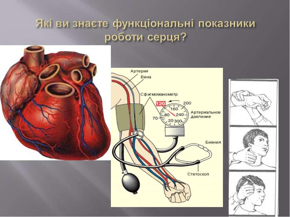 Які ви знаєте функціональні показники роботи серця?