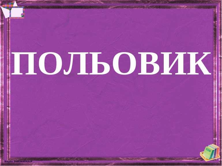 ПОЛЬОВИК