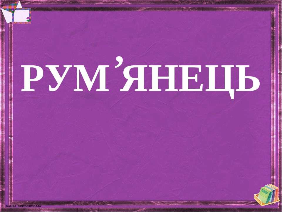РУМ ЯНЕЦЬ '