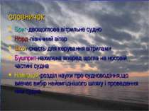 словничок Бриг-двощоглове вітрильне судно Норд-північний вітер Шкот-снасть дл...