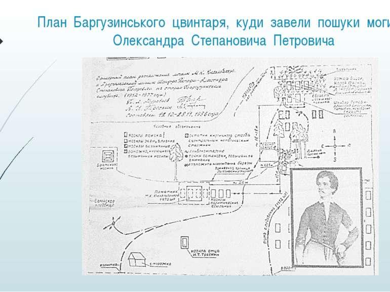 План Баргузинського цвинтаря, куди завели пошуки могили Олександра Степанович...