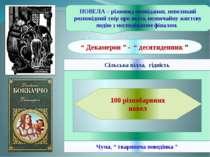 """100 різнобарвних новел Сільська вілла, гідність Чума, """" твариняча поведінка """"..."""