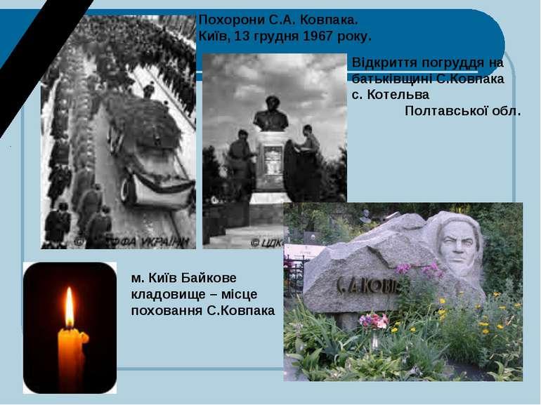 Похорони С.А. Ковпака. Київ, 13 грудня 1967 року. Відкриття погруддя на батьк...