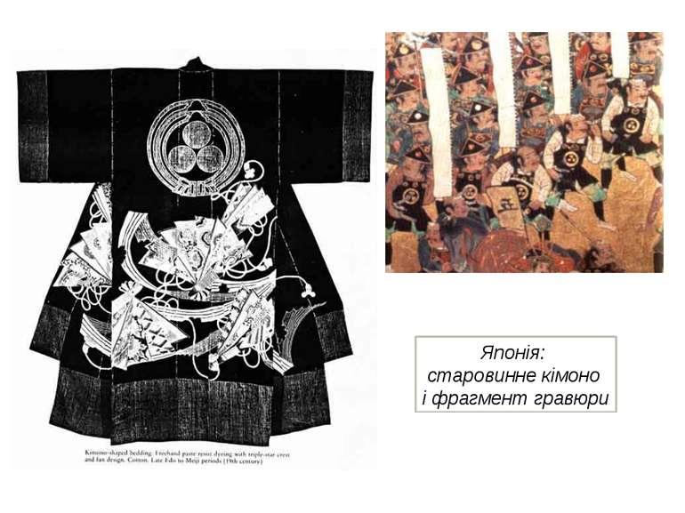 Японія: старовинне кімоно і фрагмент гравюри