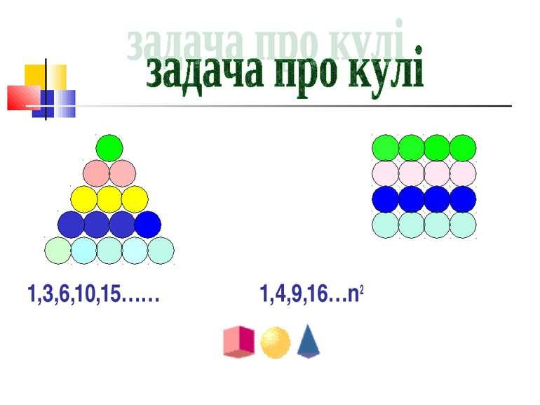 1,3,6,10,15…… 1,4,9,16…n2