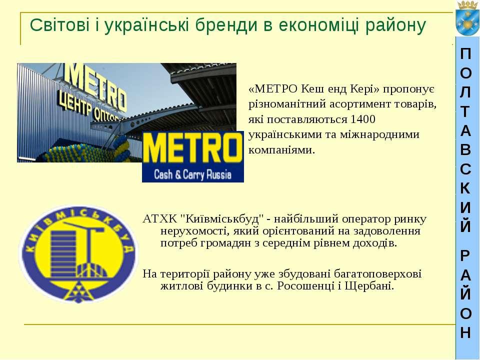 Світові і українські бренди в економіці району «METРO Кеш енд Кері» пропонує ...