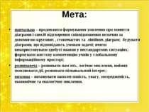 Мета: навчальна – продовжити формування уявлення про поняття діаграми і спосі...