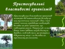 Пристосувальні властивості організмів Пристосувальні властивості організмів з...