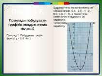 Приклади побудувати графіків квадратичних функцій Приклад. Арка моста мае фор...